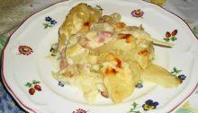 Contorno: finocchi con besciamella ai formaggi e pancetta