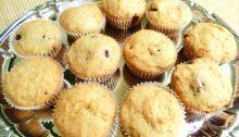 Muffin con ripieno alle more, senza burro e uova