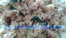 Cous cous con totani zucchine e lenticchie