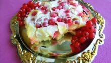 Tortina (zapekanka) di tagliatelle con ribes rosso / Cake (zapekanka) of noodles with red currant